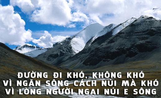 Duong Di Kho Khong Kho Vi Ngan Song Cach Nui Ma Kho Vi Long Nguoi Ngai Nui E Song