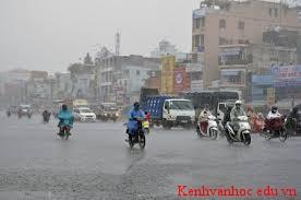 đường phố khi trời mưa