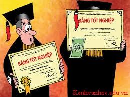 tấm bằng tốt nghiệp