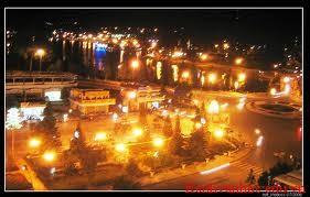 thành phố khi lên đèn