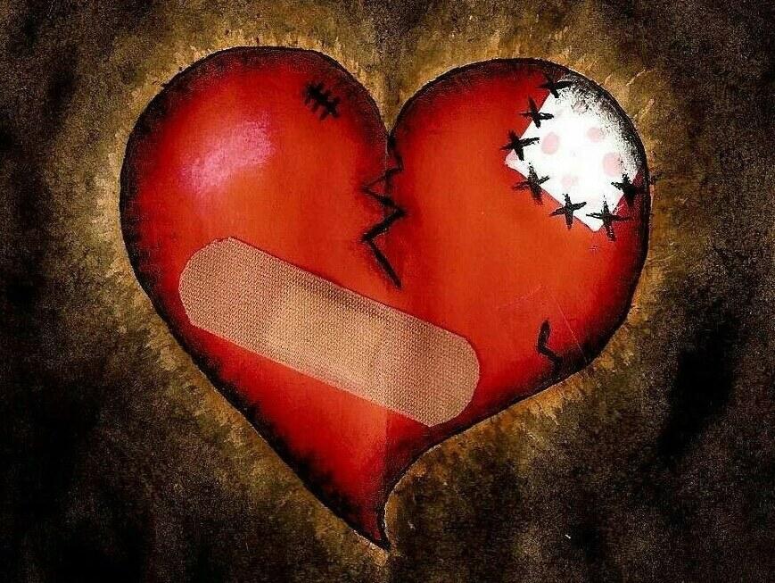 trái tim hoàn thiện nhất là trái tim có nhiều mảnh vá
