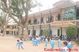 quang cảnh trường học