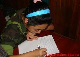 Viết một bức thư ngắn cho người thân